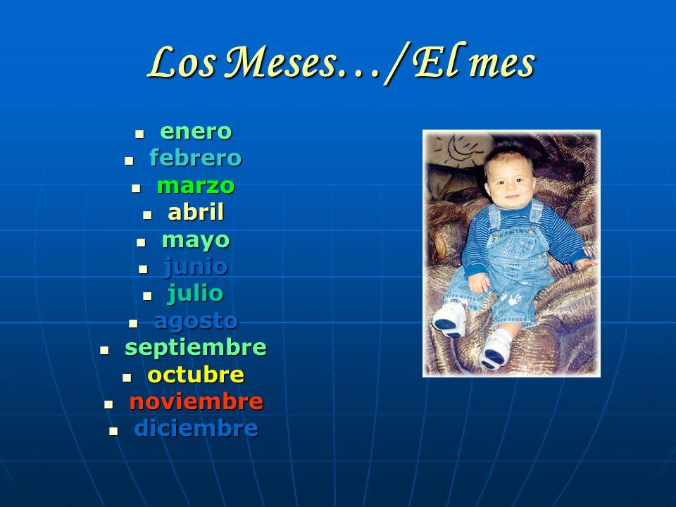 Los Meses…/ El mes enero febrero marzo abril mayo junio julio agosto