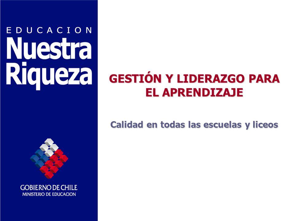 GESTIÓN Y LIDERAZGO PARA EL APRENDIZAJE