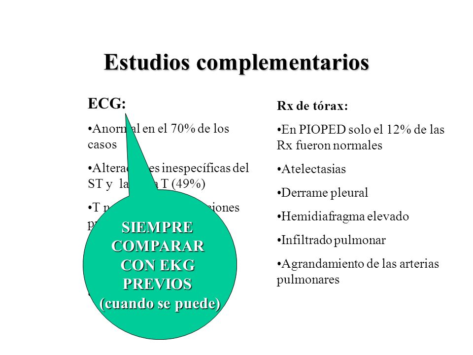 Estudios complementarios