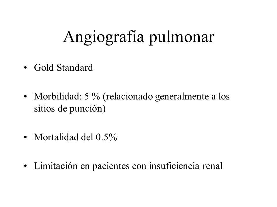 Angiografía pulmonar Gold Standard