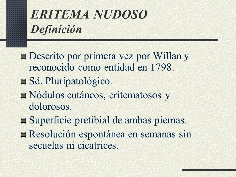 ERITEMA NUDOSO Definición
