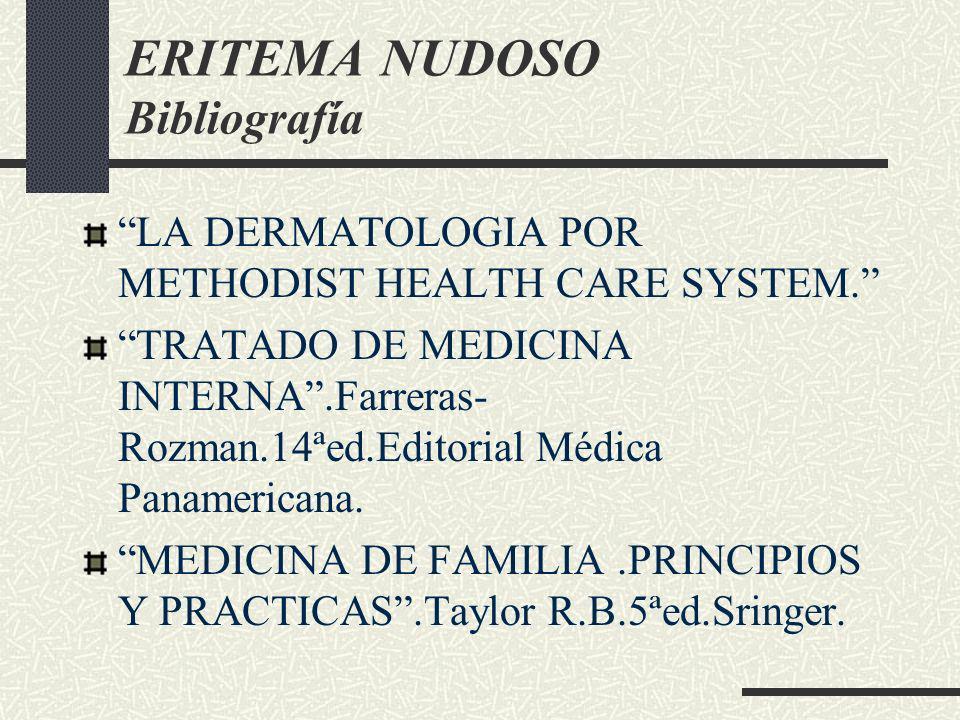 ERITEMA NUDOSO Bibliografía