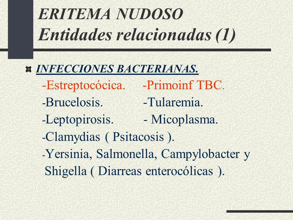 ERITEMA NUDOSO Entidades relacionadas (1)