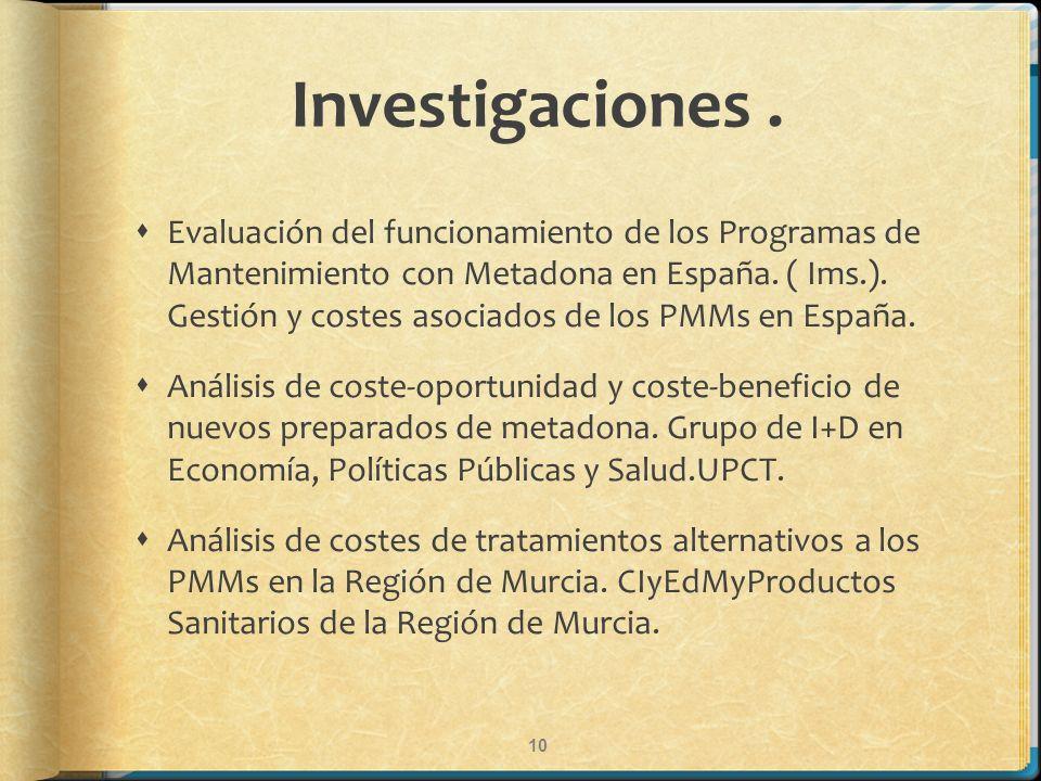 Investigaciones .