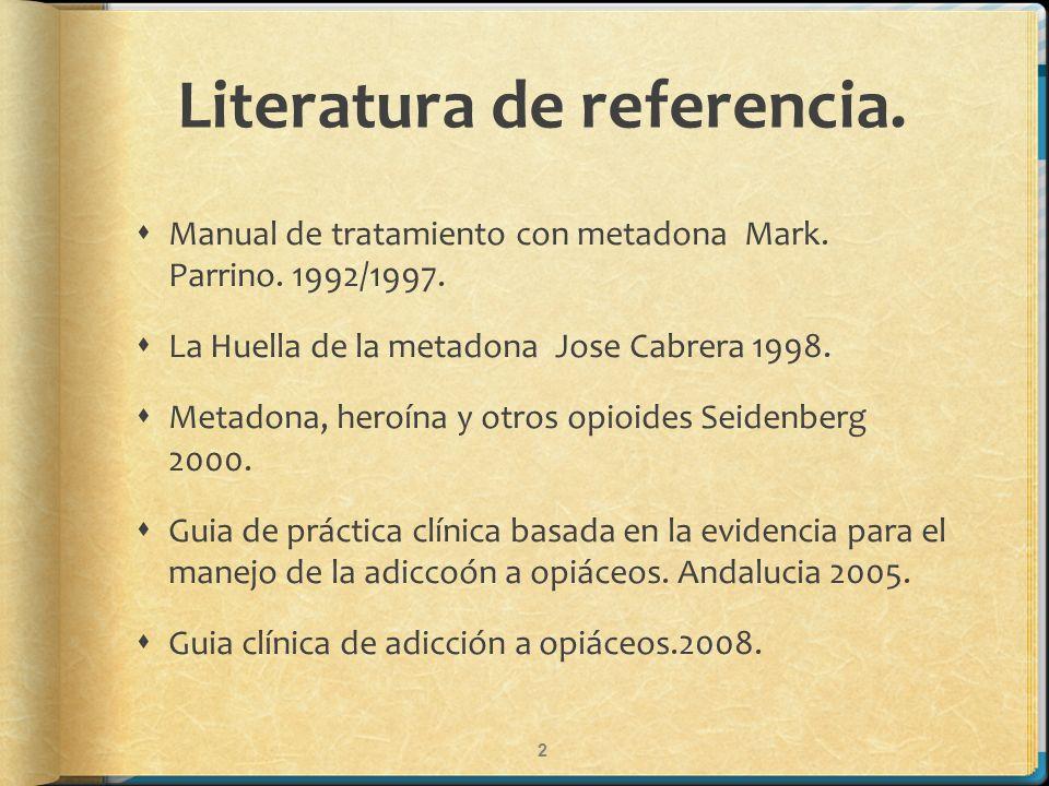Literatura de referencia.