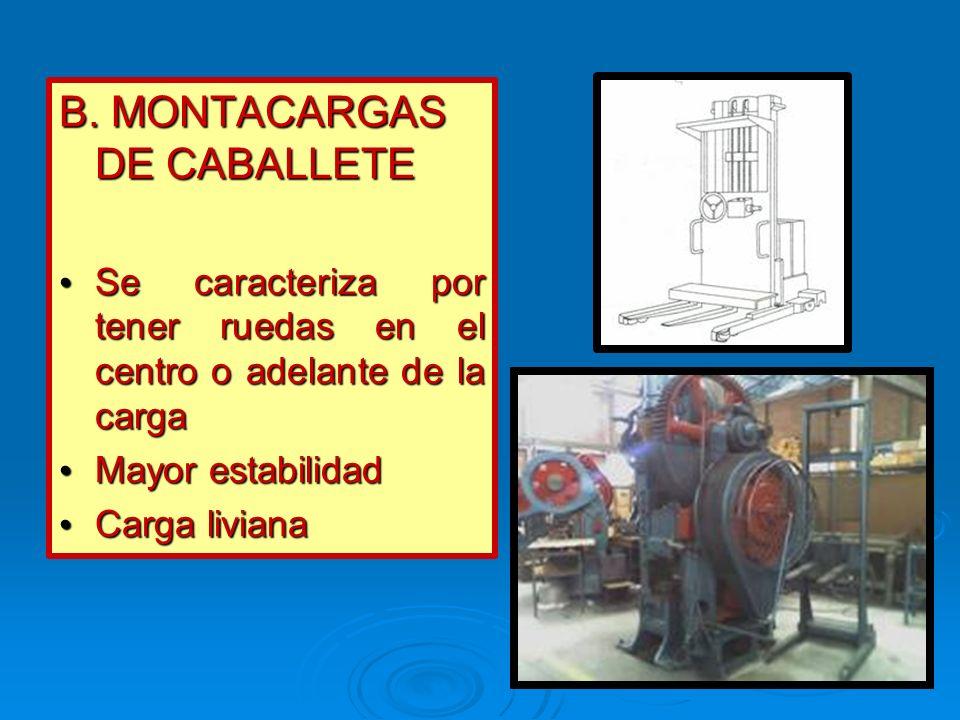 B. MONTACARGAS DE CABALLETE