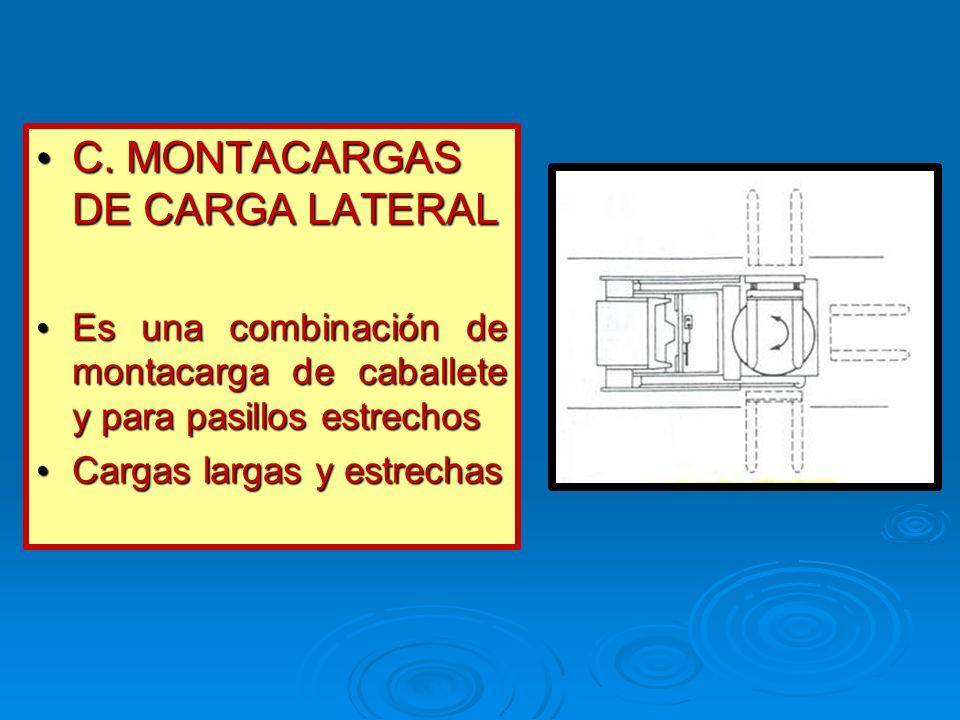 C. MONTACARGAS DE CARGA LATERAL