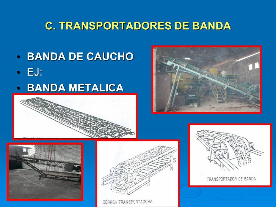 C. TRANSPORTADORES DE BANDA