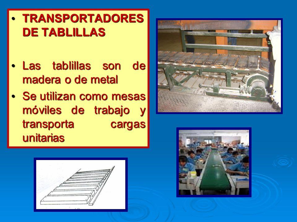 TRANSPORTADORES DE TABLILLAS