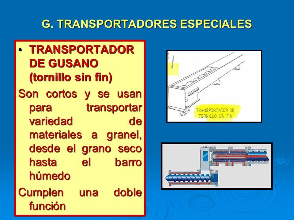 G. TRANSPORTADORES ESPECIALES