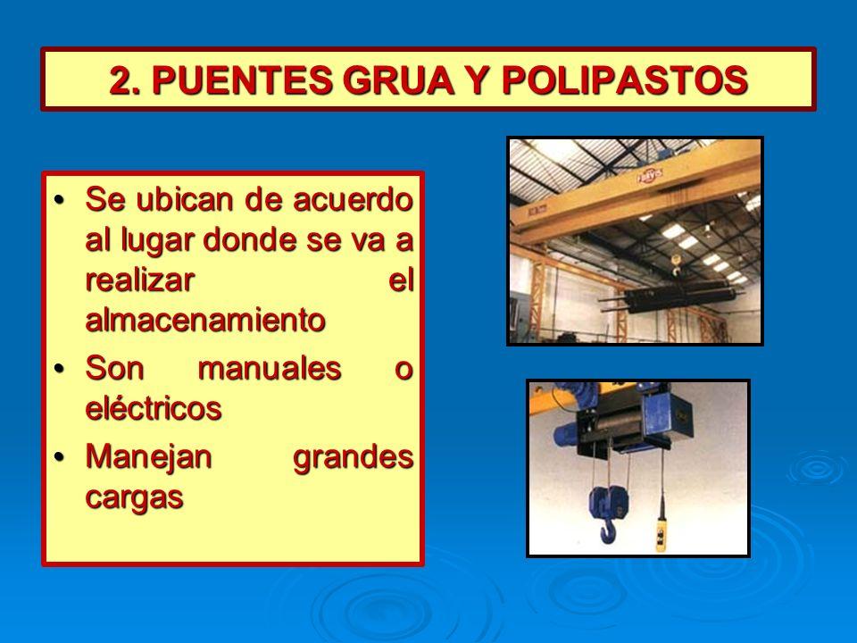 2. PUENTES GRUA Y POLIPASTOS