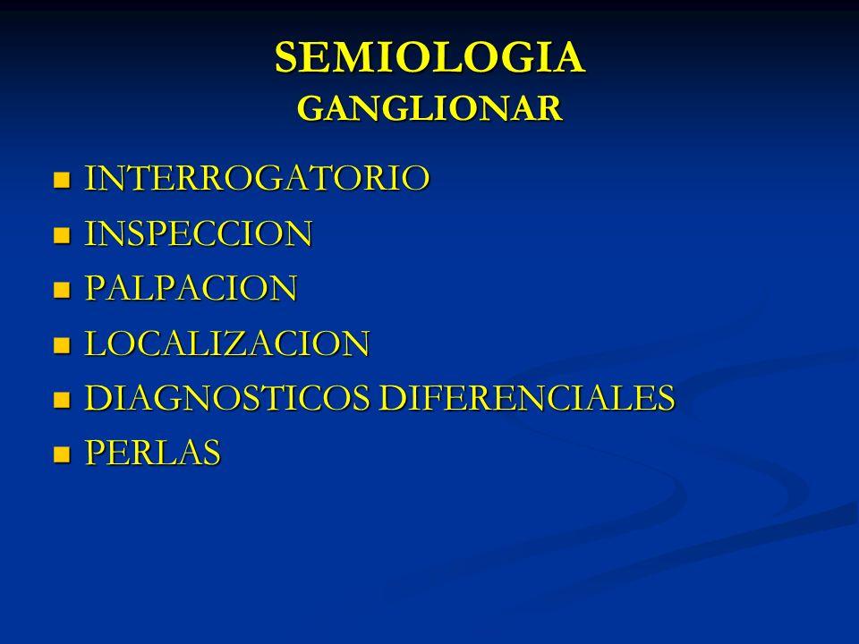 SEMIOLOGIA GANGLIONAR