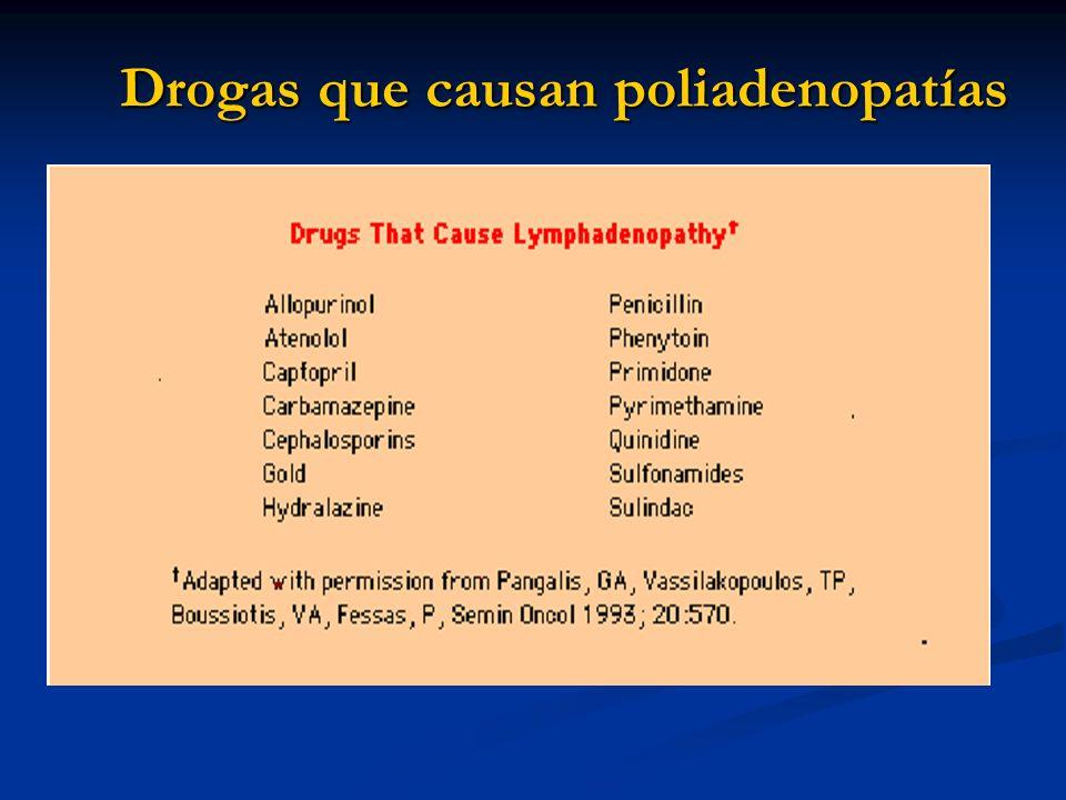 Drogas que causan poliadenopatías