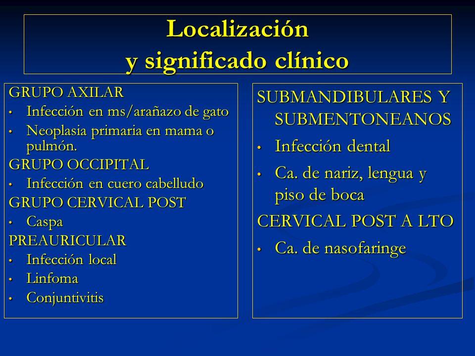 Localización y significado clínico