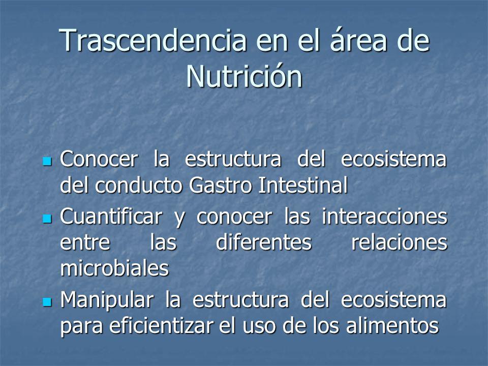 Trascendencia en el área de Nutrición