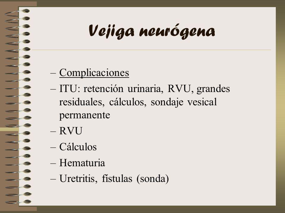 Vejiga neurógena Complicaciones