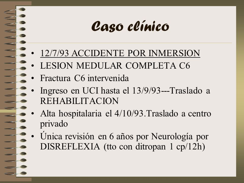 Caso clínico 12/7/93 ACCIDENTE POR INMERSION
