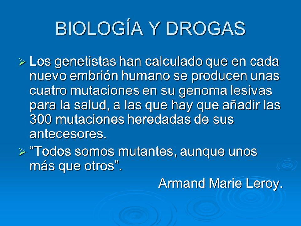 BIOLOGÍA Y DROGAS