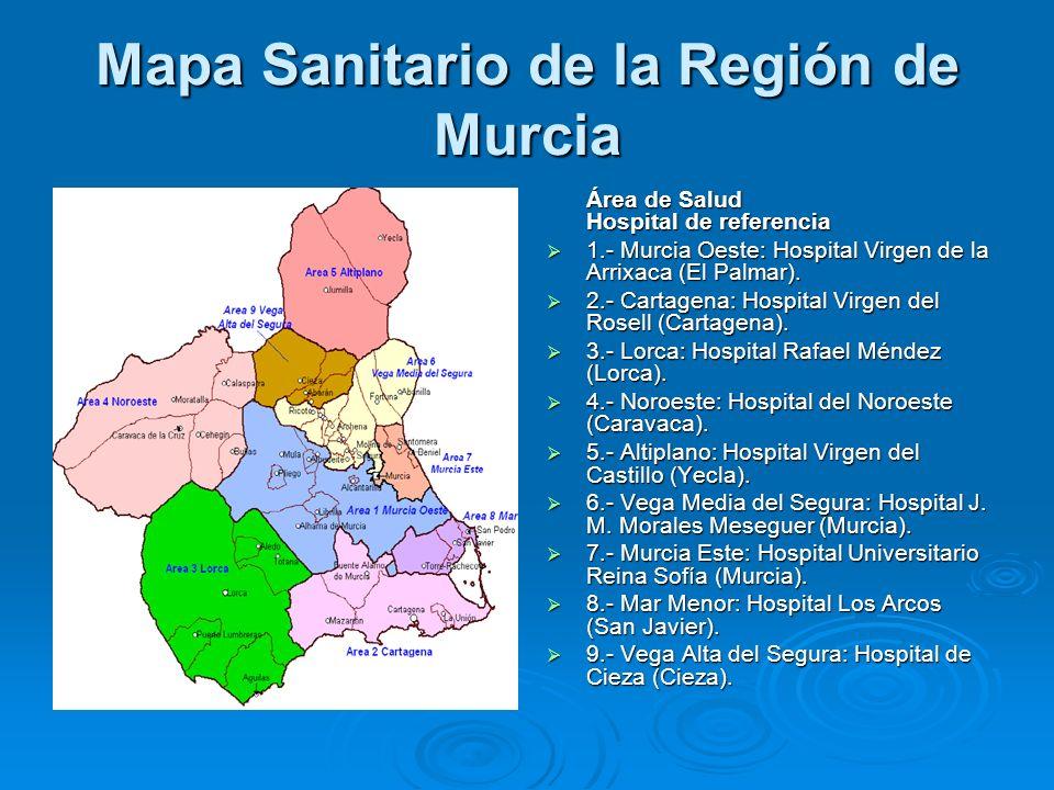 Mapa Sanitario de la Región de Murcia
