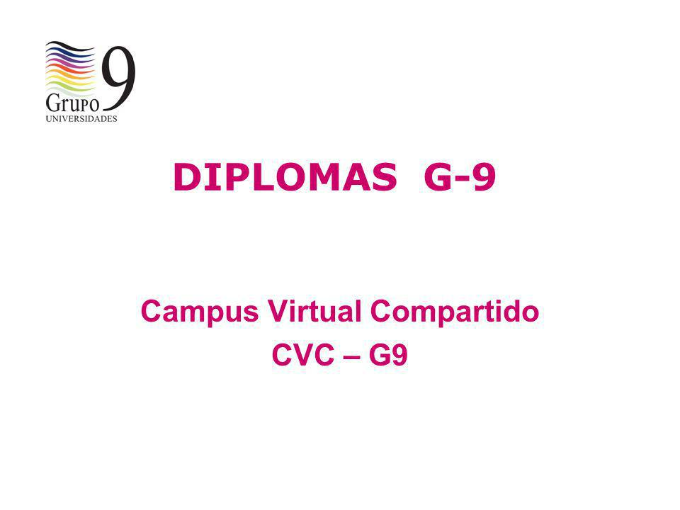 Campus Virtual Compartido CVC – G9