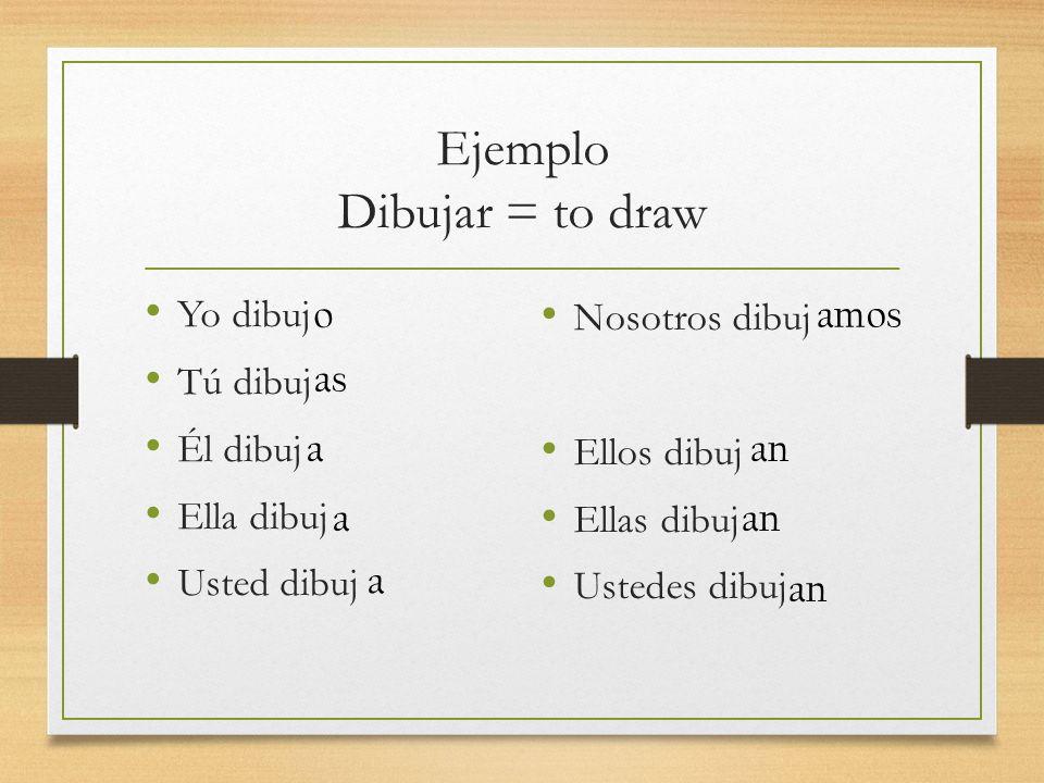 Ejemplo Dibujar = to draw