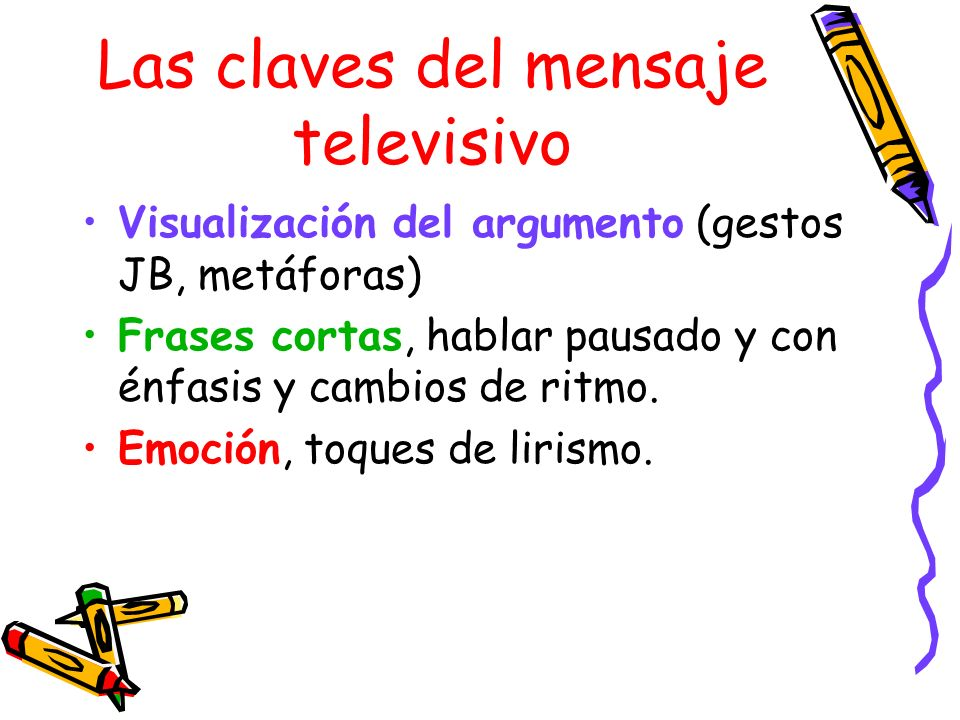 Las claves del mensaje televisivo