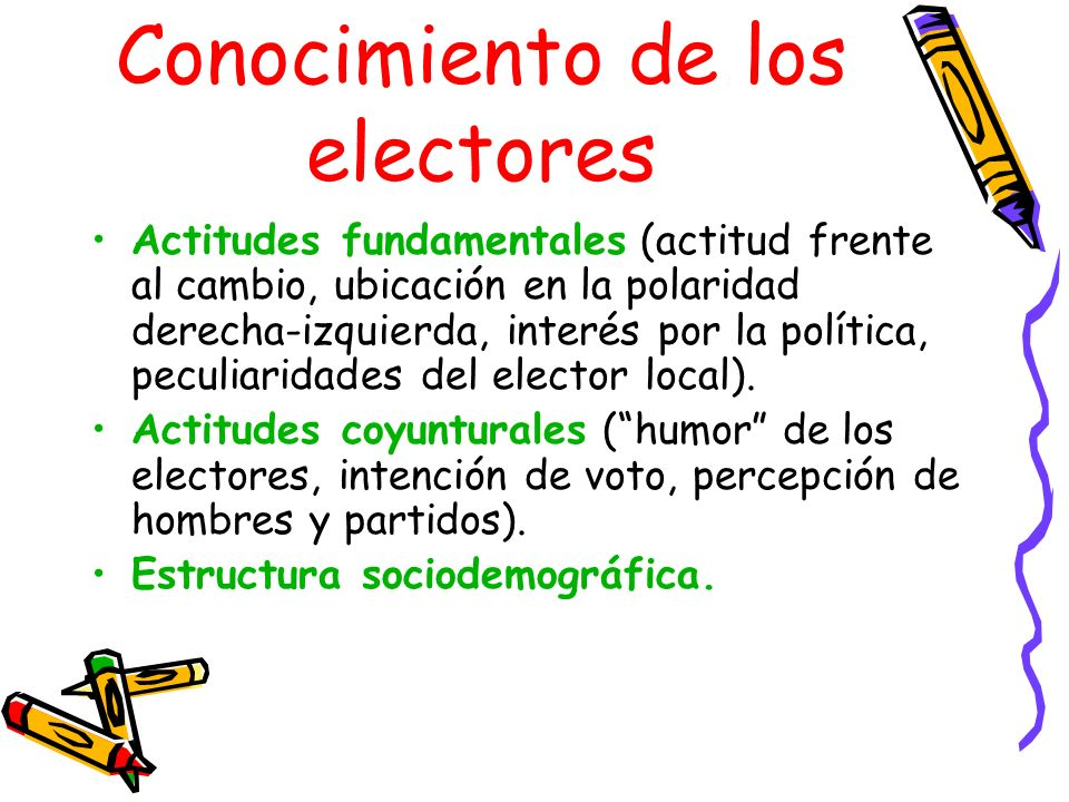 Conocimiento de los electores