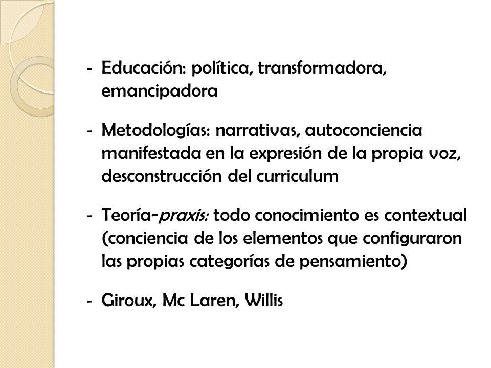 Educación: política, transformadora, emancipadora