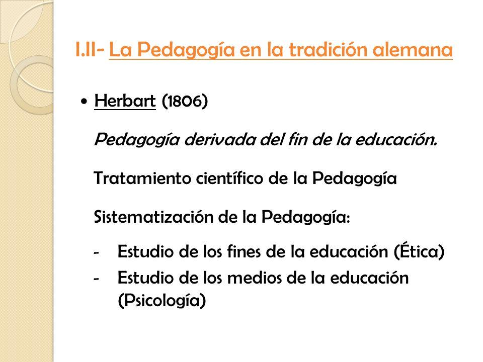 I.II- La Pedagogía en la tradición alemana