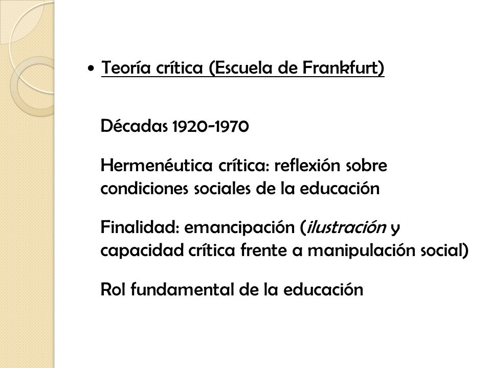 Teoría crítica (Escuela de Frankfurt)