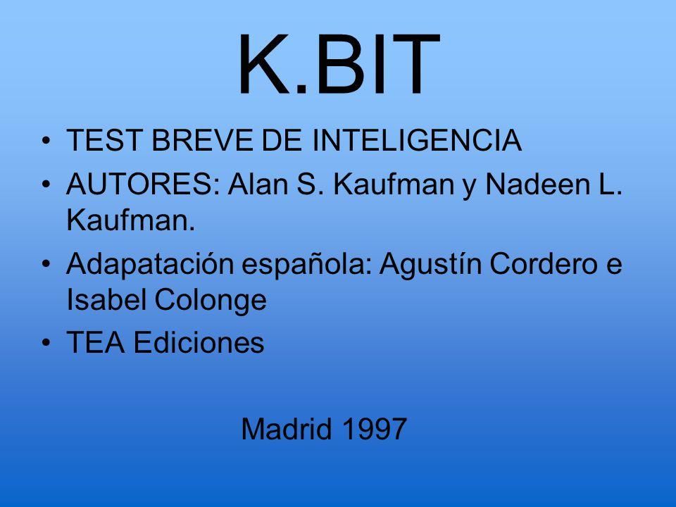 K.BIT TEST BREVE DE INTELIGENCIA