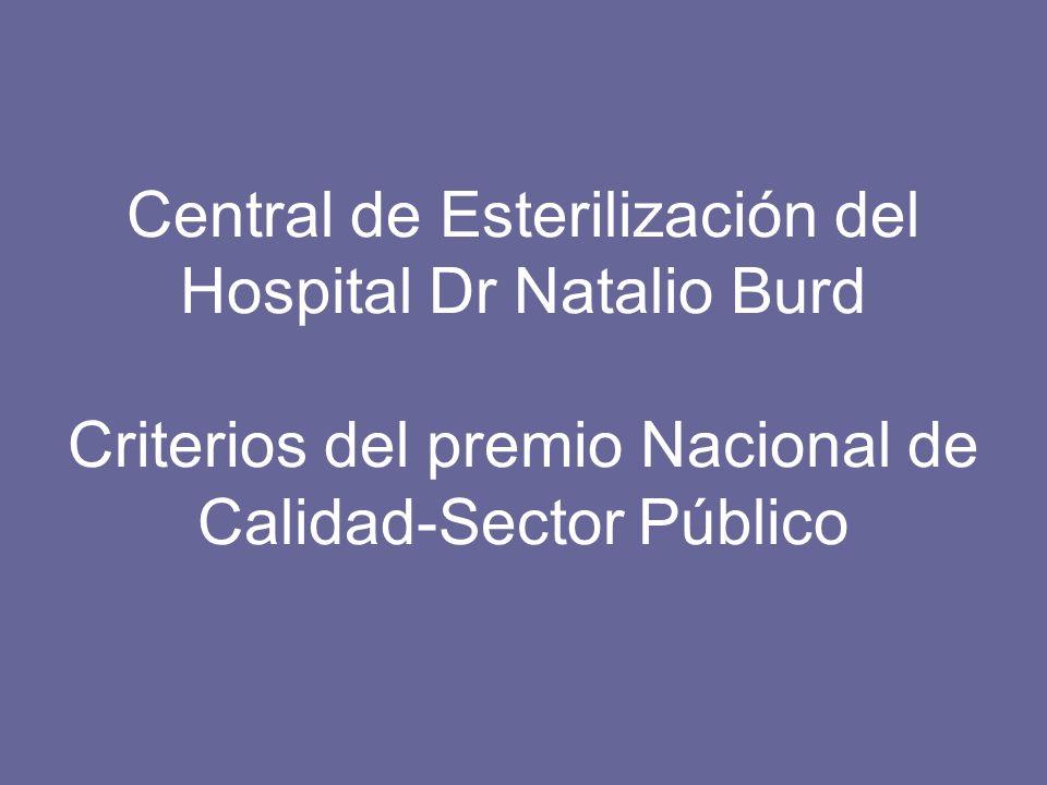 Central de Esterilización del Hospital Dr Natalio Burd Criterios del premio Nacional de Calidad-Sector Público