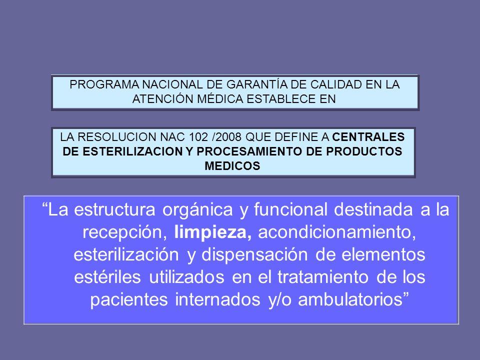 PROGRAMA NACIONAL DE GARANTÍA DE CALIDAD EN LA ATENCIÓN MÉDICA ESTABLECE EN