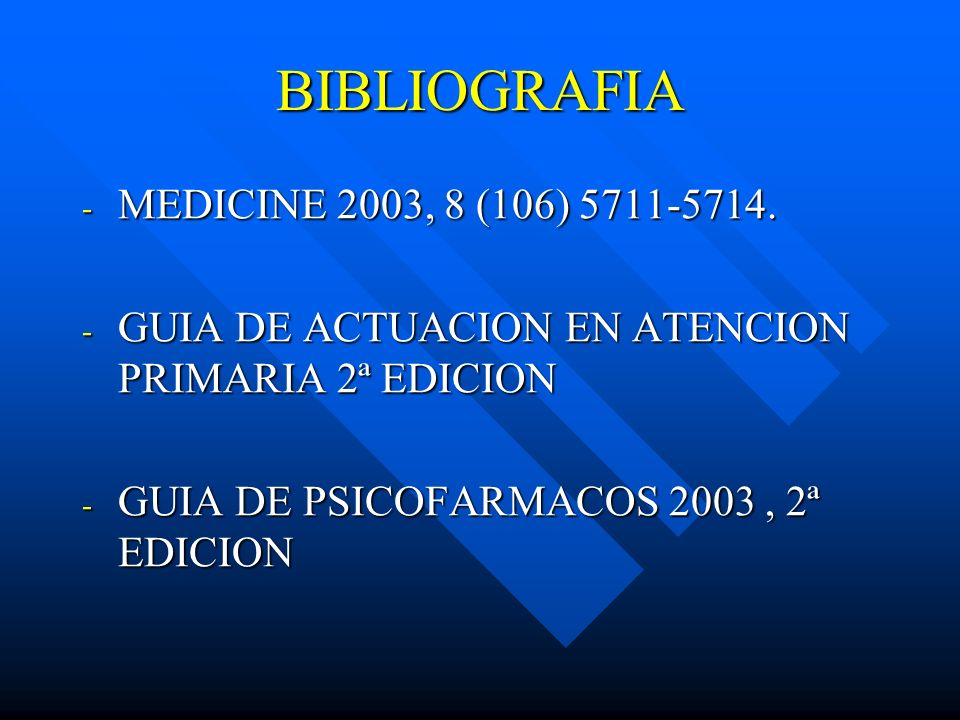 BIBLIOGRAFIA MEDICINE 2003, 8 (106) 5711-5714.
