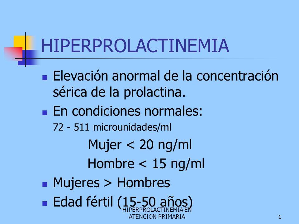 HIPERPROLACTINEMIA EN ATENCION PRIMARIA