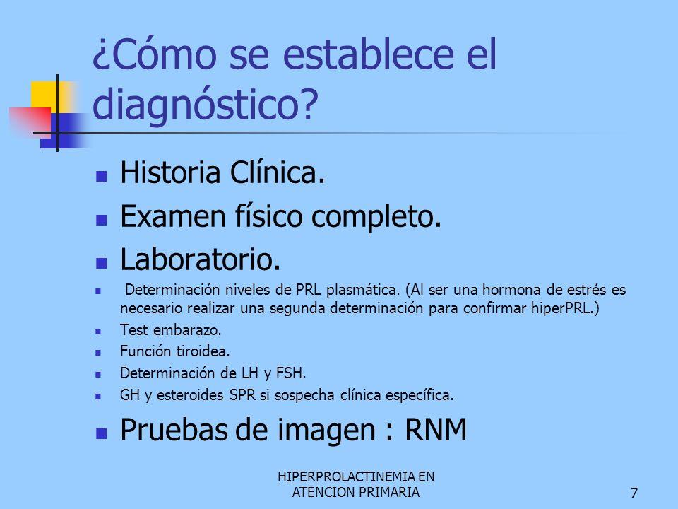 ¿Cómo se establece el diagnóstico