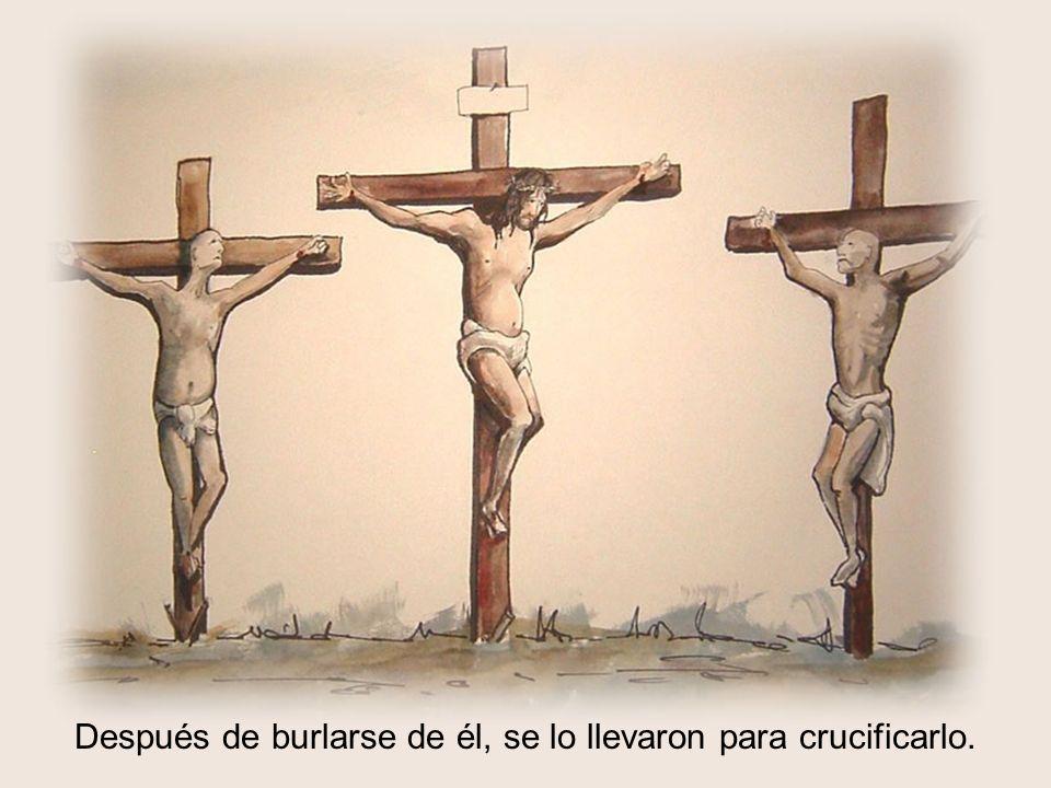 Después de burlarse de él, se lo llevaron para crucificarlo.