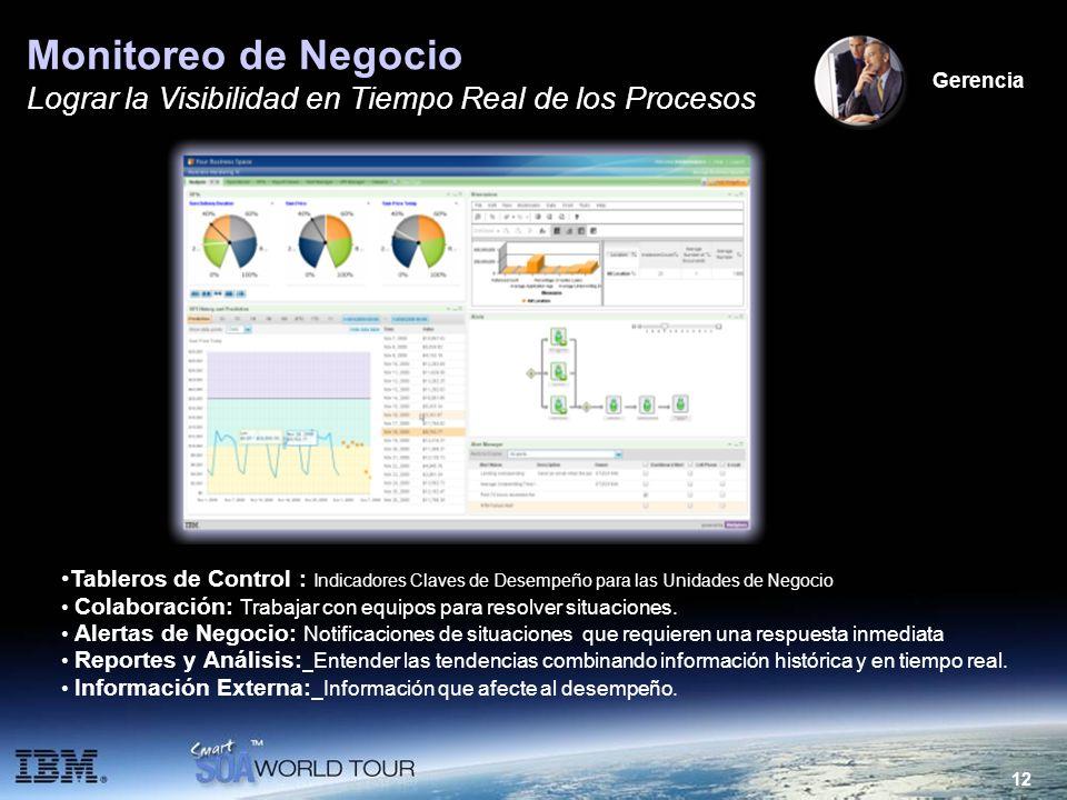 Monitoreo de Negocio Lograr la Visibilidad en Tiempo Real de los Procesos. Gerencia.