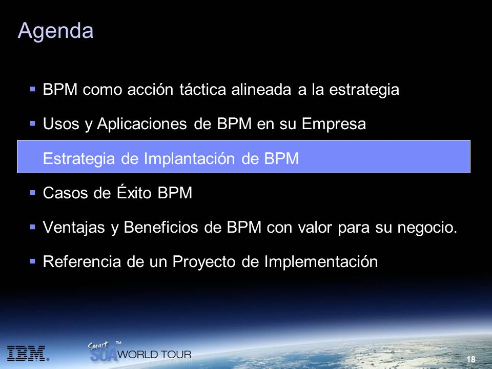 Agenda BPM como acción táctica alineada a la estrategia