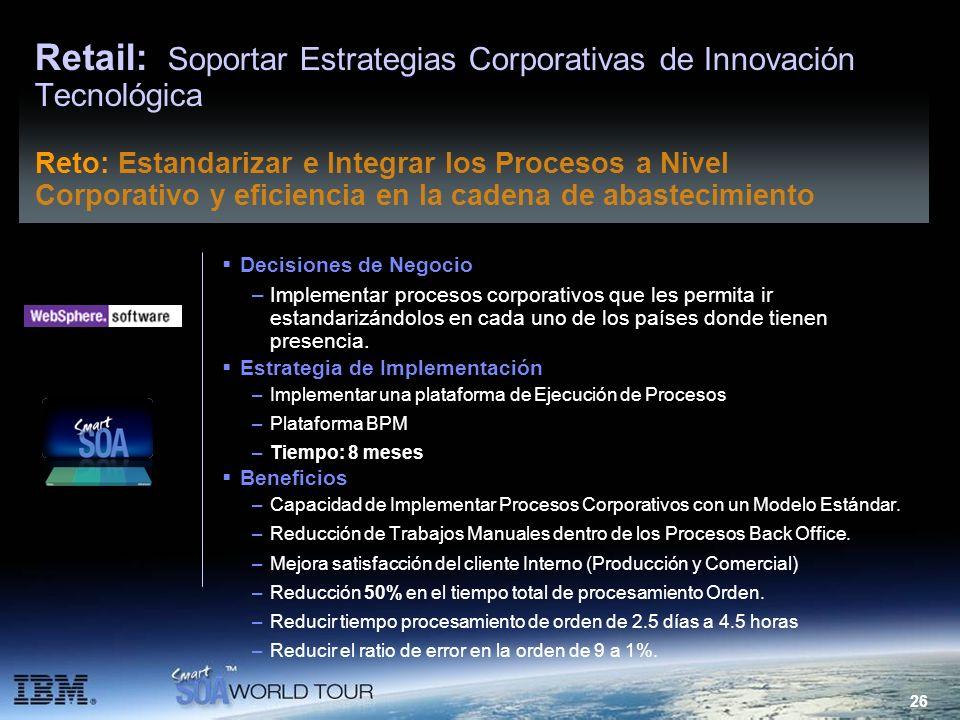 Retail: Soportar Estrategias Corporativas de Innovación Tecnológica