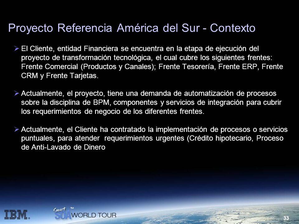 Proyecto Referencia América del Sur - Contexto