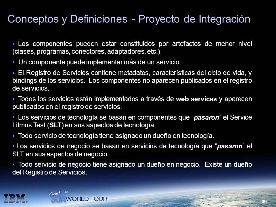Conceptos y Definiciones - Proyecto de Integración
