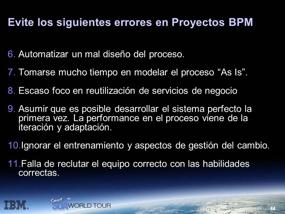 Evite los siguientes errores en Proyectos BPM