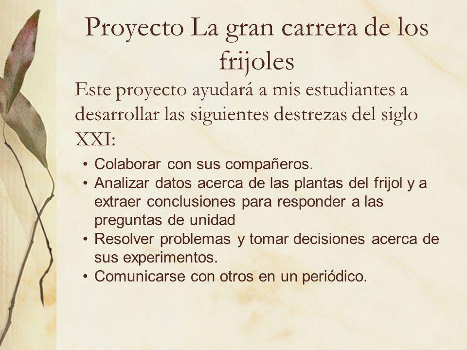 Proyecto La gran carrera de los frijoles