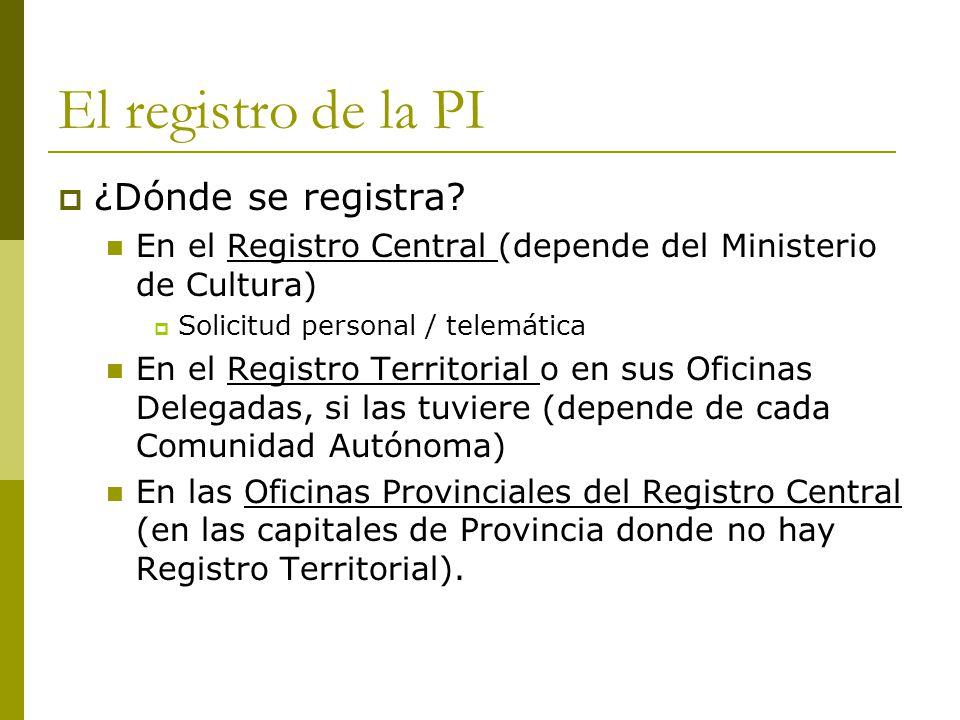 Inform tica y propiedad intelectual ppt descargar for Oficinas del registro de la propiedad