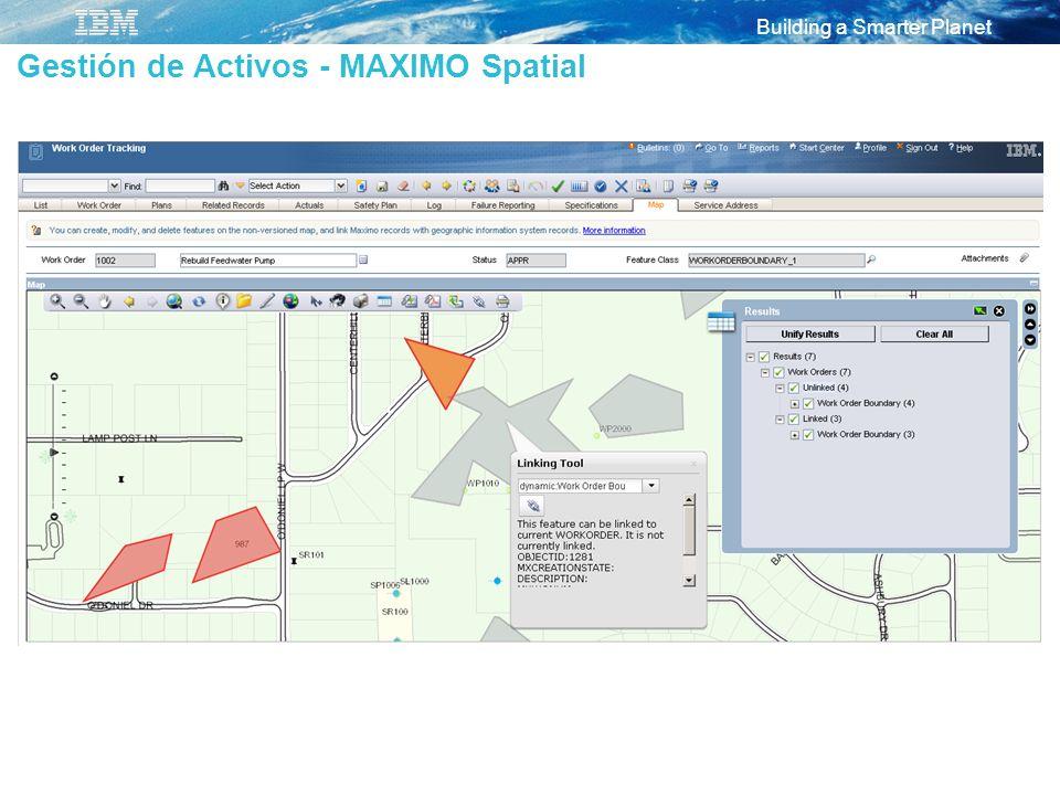 Gestión de Activos - MAXIMO Spatial
