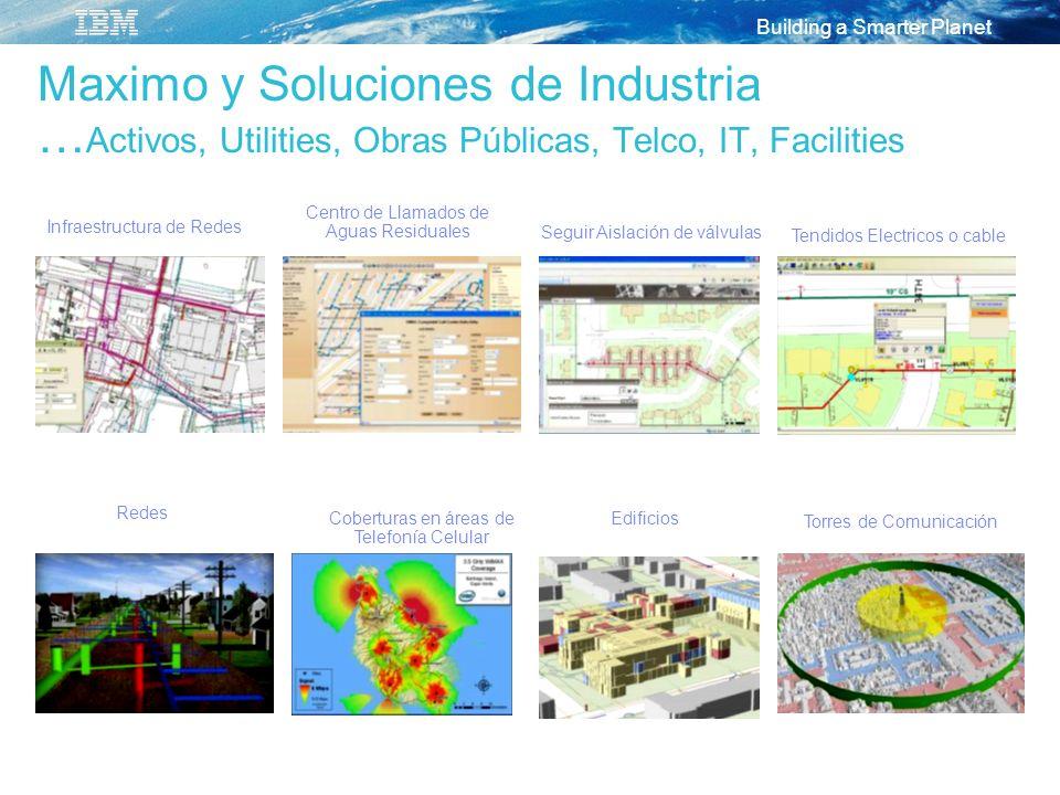 Maximo y Soluciones de Industria …Activos, Utilities, Obras Públicas, Telco, IT, Facilities
