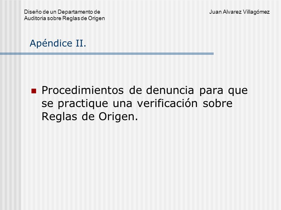 Apéndice II.