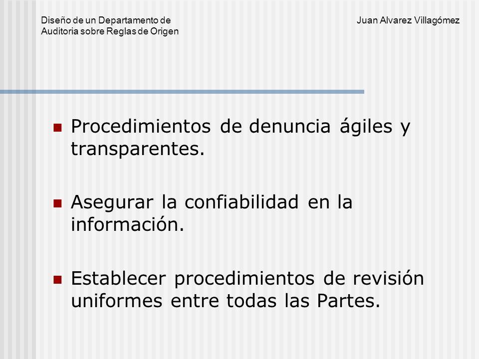 Procedimientos de denuncia ágiles y transparentes.