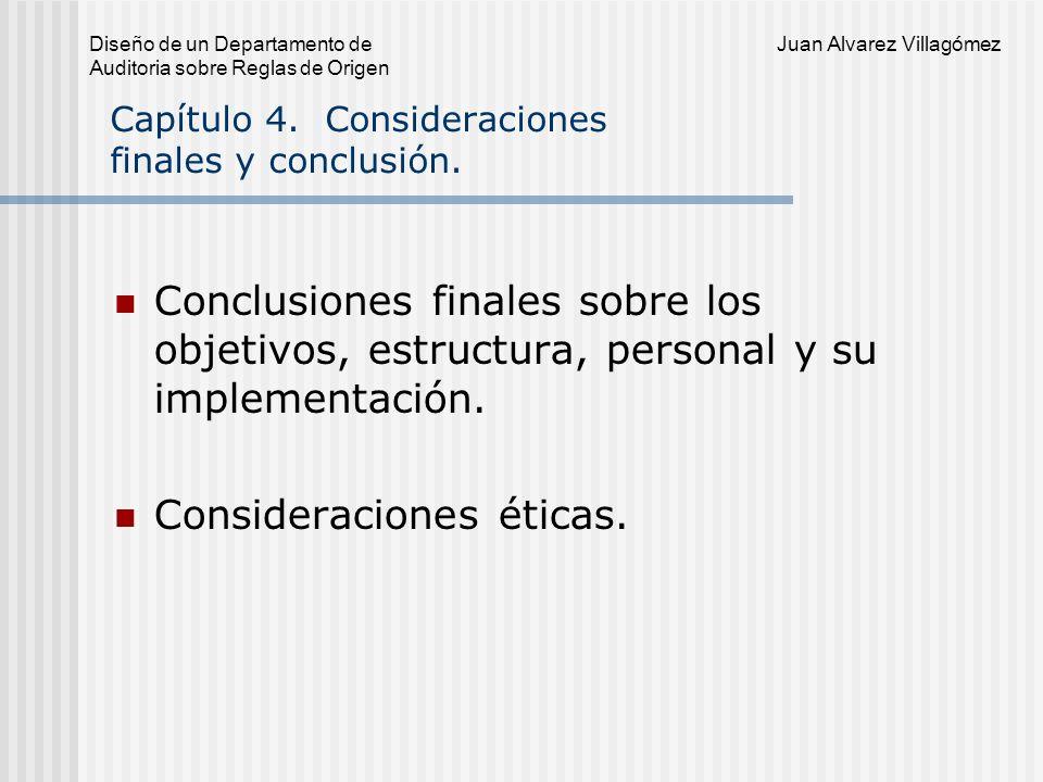 Capítulo 4. Consideraciones finales y conclusión.